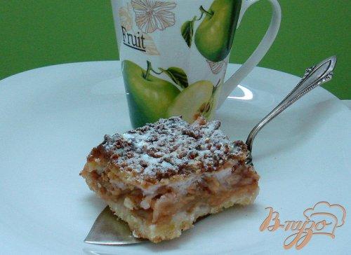 Пирог песочный яблочный с киселём