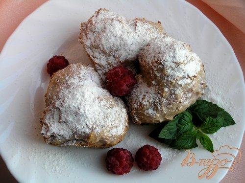 Творожные кексы с малиной