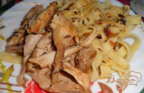 Домашняя паста с домашней курицей