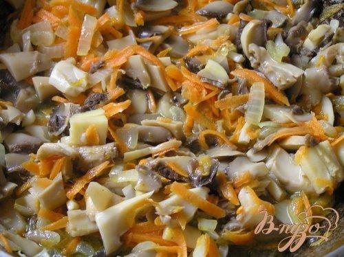 Паста с грибами и черри