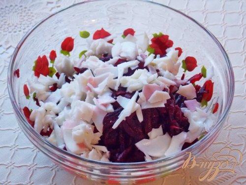 Салат из сельди со свеклой и сметаной