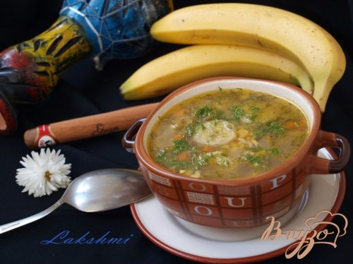 Кубинский суп с бананами