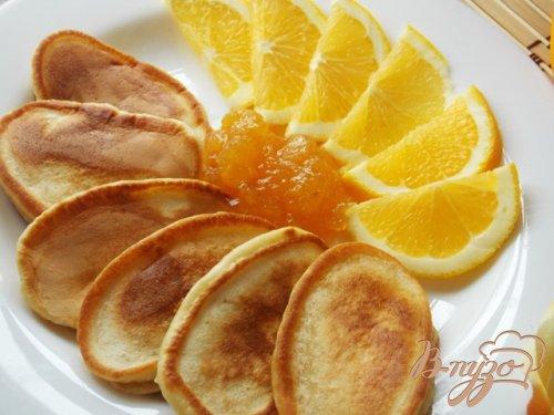 Апельсиновые оладьи на ряженке