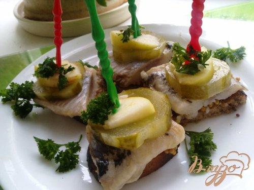 Бутербродики закусочные с сельдью