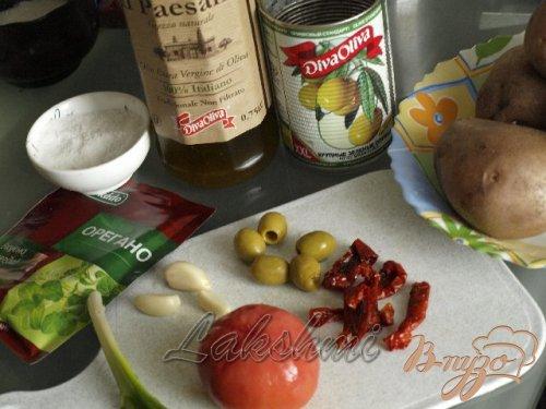 Брускетта из картофеля по-средиземноморски