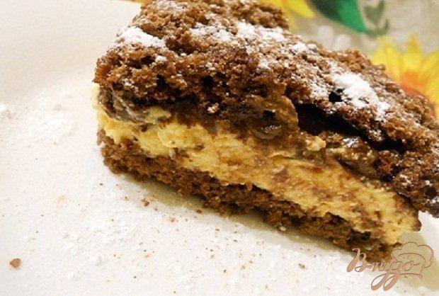фото рецепта: Шоколадный торт с хурмой