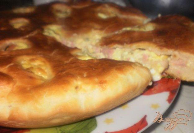 Рецепт Пирог с яйцом, ветчиной и сыром