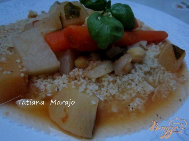 Рецепт Овощное рагу с крупой кус- кус по-восточному