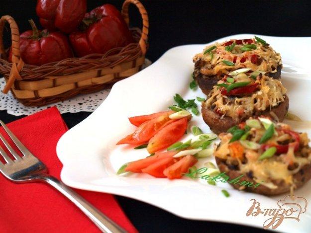 Рецепт Шампиньоны фаршированные рисовой начинкой