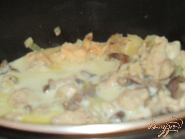 Фото приготовление рецепта: Жульен в мультиварке шаг №3