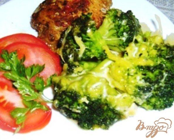 Рецепт Капуста брокколи, запеченная с сыром
