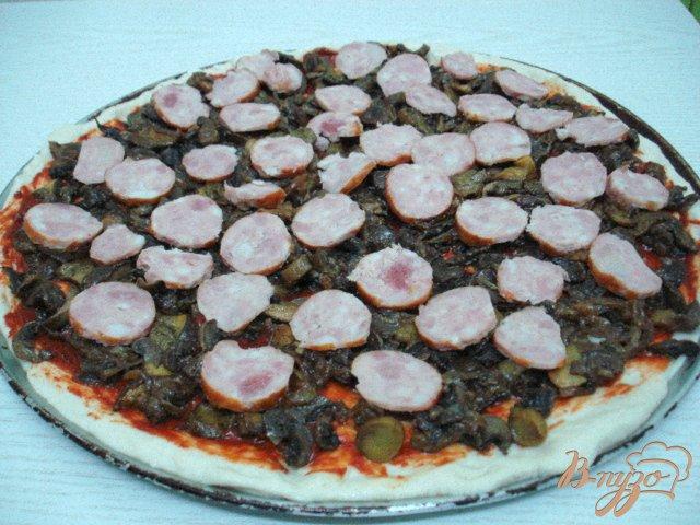 Фото приготовление рецепта: Пицца сборная шаг №4