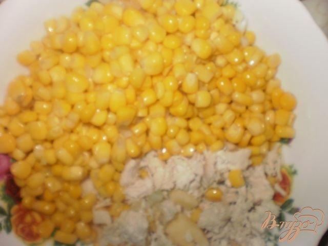 салаты из кукурузы и курицы фото рецепт пошаговый