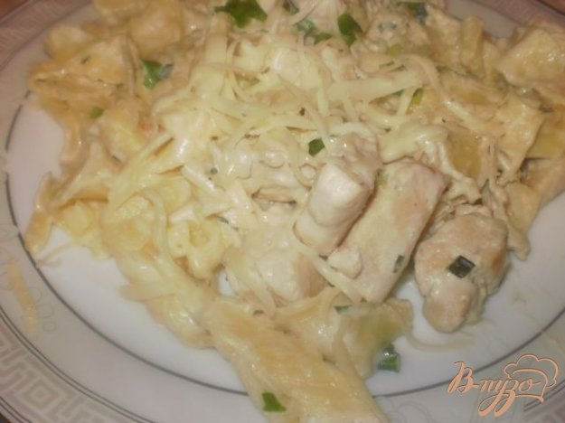 Рецепт Феттуччине в сливочном соусе с мясом