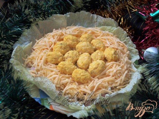 Рецепт Красивый вкусный салат «Гнездо»