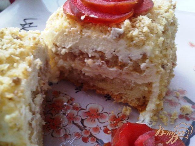 Фото приготовление рецепта: Яблочное пирожное с карамелизированными овсяными хлопьями шаг №18