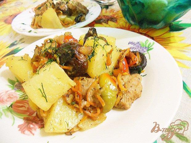 Рецепт Рагу в горшочке с грибами шиитаке
