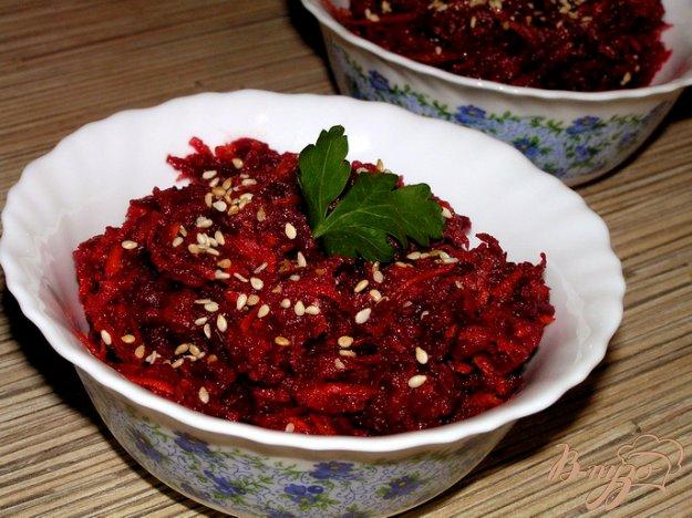 Рецепт Салат из свеклы с морковью и кориандром