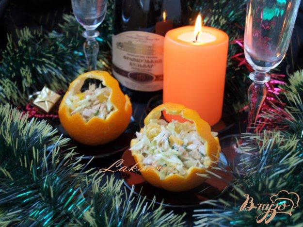 Рецепт Салат с курицей в апельсинах