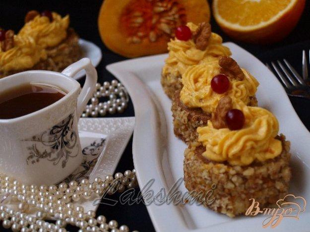 Рецепт Диетические пирожные с тыквенным кремом