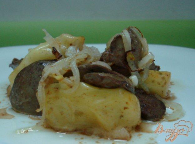 Рецепт Печень с яблоками