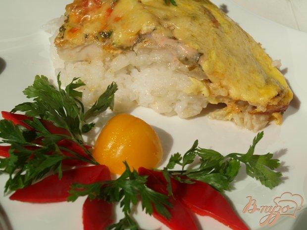 Фото приготовление рецепта: Рыбная запеканка с рисом шаг №6