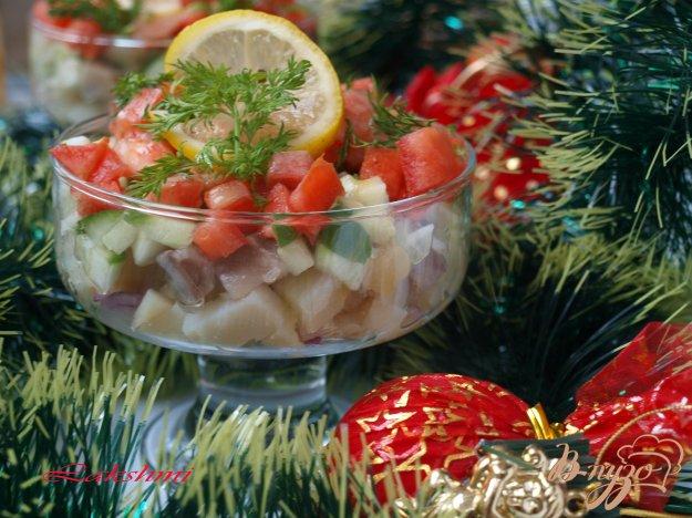 Рецепт Сельдь с овощами в горчичном соусе