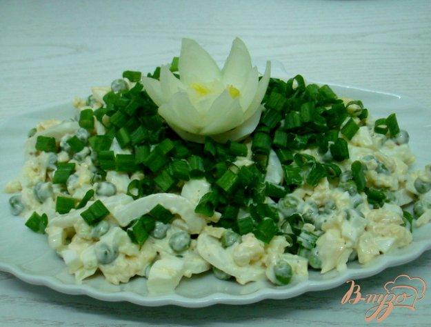 Рецепт Салат из кальмаров с сыром
