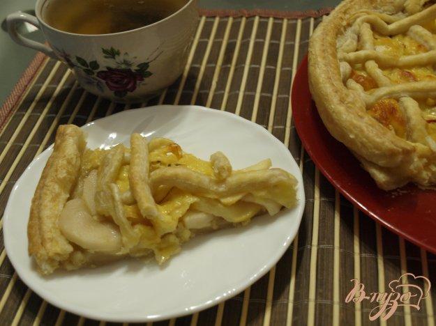 Рецепт Сырный пирог с яблоками и тмином