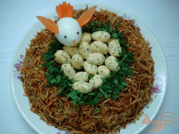 фото рецепта: Салат  *Гнездо*