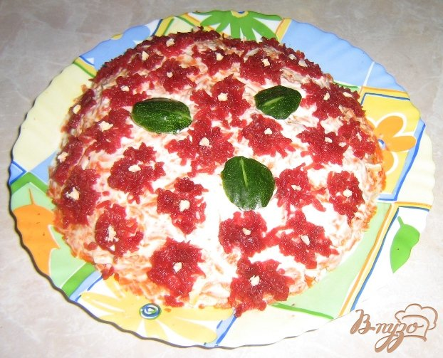 салат из свеклы яйца сыра рецепт