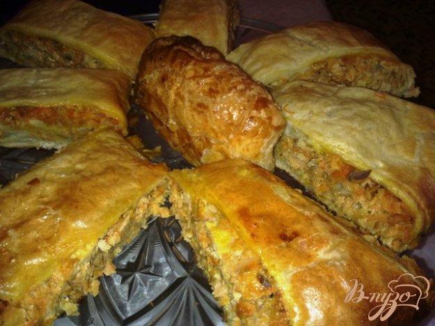 Рецепт Пирог с горбушей и овощами