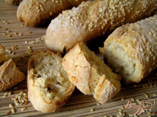 Рецепт Багеты с зернами кунжута