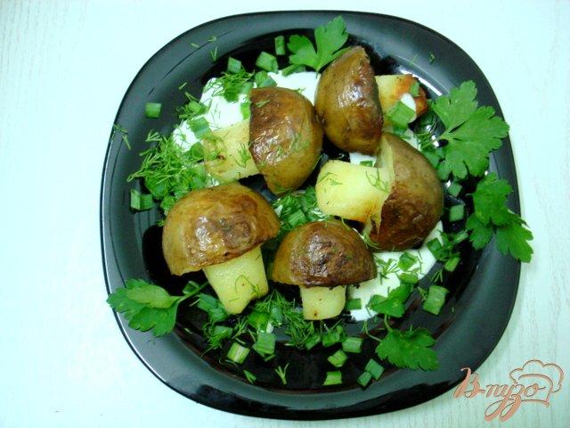 Фото приготовление рецепта: Грибочки из картофеля шаг №4