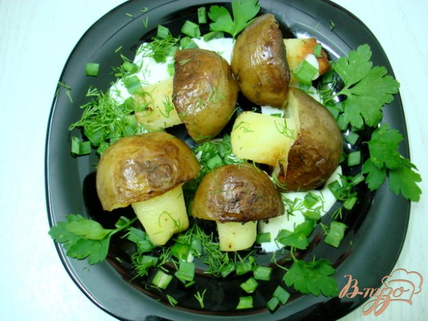 фото рецепта: Грибочки из картофеля