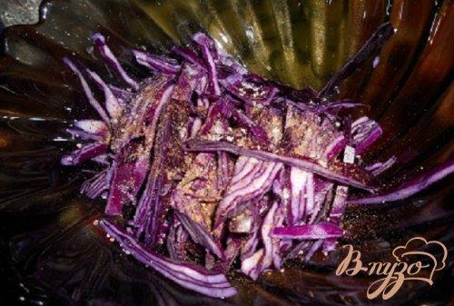 Капустный салат с грибами
