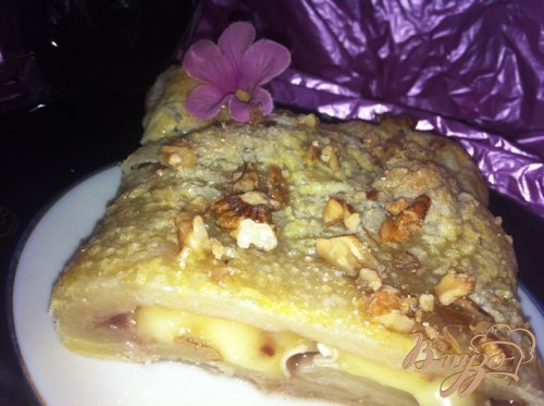Пирог с сыром бри и малиновым джемомм