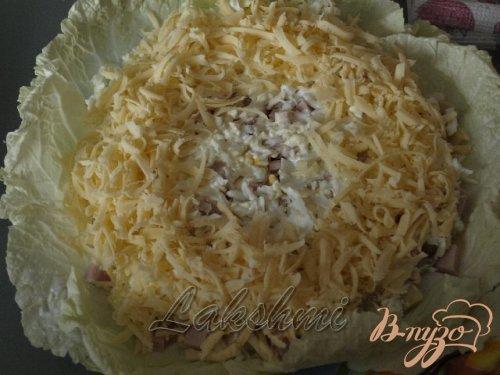 Красивый вкусный салат «Гнездо»