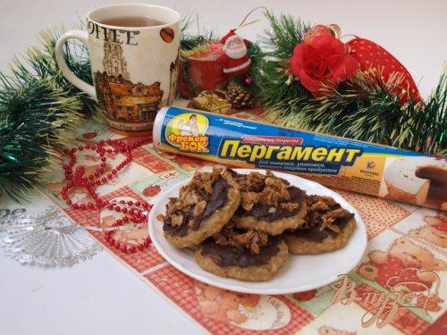 Банановое печенье с творогом