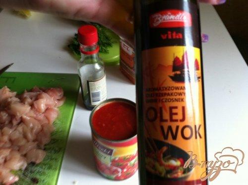 Куриное филе с тайским соусом и рисом