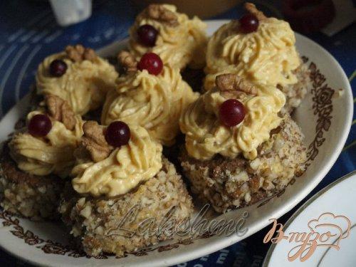 Диетические пирожные с тыквенным кремом