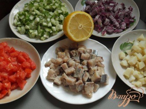 Сельдь с овощами в горчичном соусе