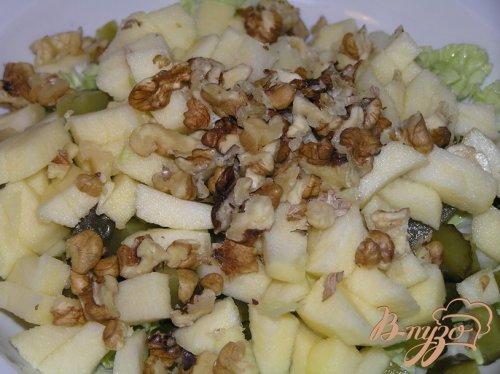 Салат с яблоком и грецкими орехами