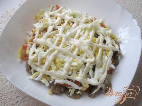 Салат с сардиной и грибами