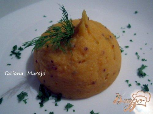 Картофельно-тыквенное пюре с горчицей