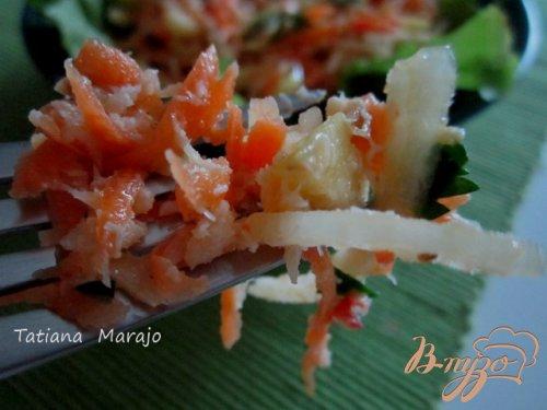 Дамский салатик с крабами