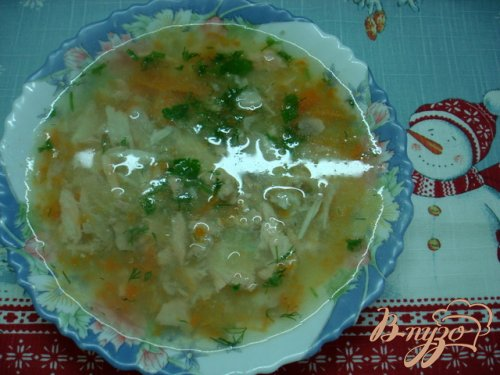 Суп пюре из головы лосося