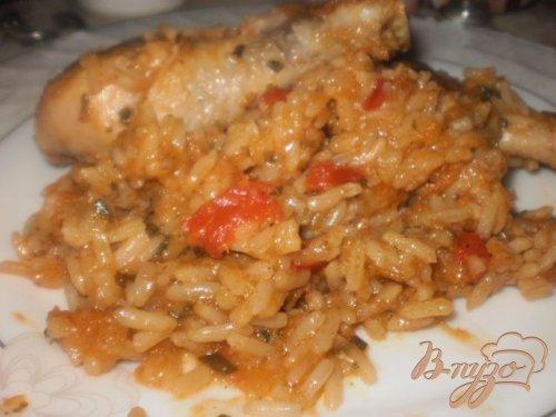 Курица тушеная с рисом