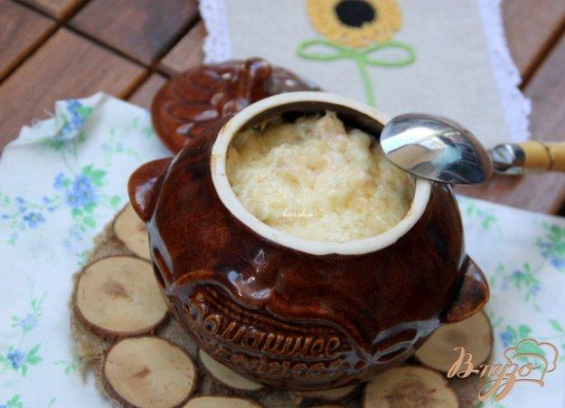 Рецепт Цветная капуста с творогом в горшочке