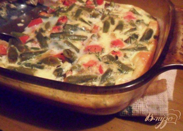 Рецепт Стручковая фасоль, запечённая с яйцом